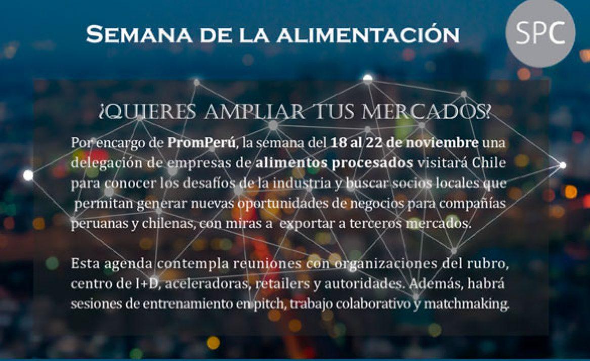 Empresas peruanas de alimentos visitan Chile para potenciar comercio bilateral