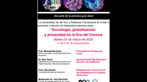 Participa en el próximo webinar de tecnología y Covid-19